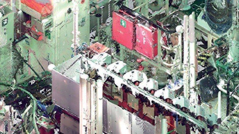 Wimmelbild: Die Aufnahmen, die der Scanner liefert, sind nur für Fachleute verständlich und müssen aufwendig nachbearbeitet werden. Foto: Werk