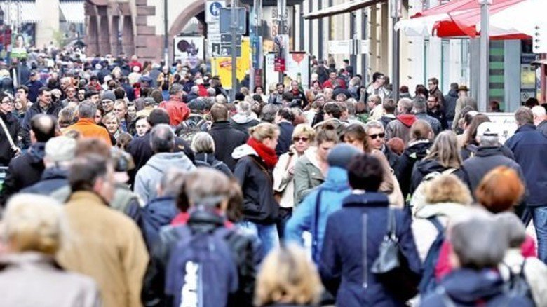 Belebter Ballungsraum: Vor allem Metropolen ziehen Einwanderer an. Foto: dpa