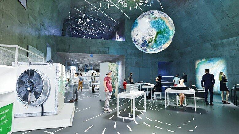 """Nicht mehr lang hin bis zur Eröffnung: So wird der Ausstellungsabschnitt """"System Erde"""" bald aussehen…"""