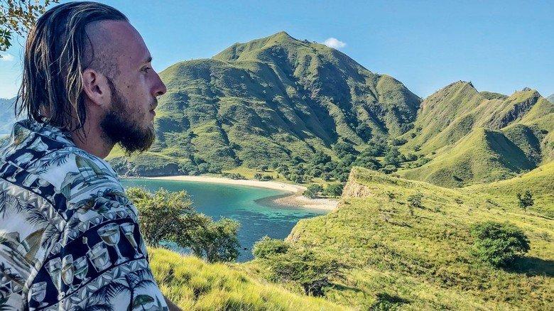 Idylle pur: Phil Pankrath auf der indonesischen Insel Komodo.