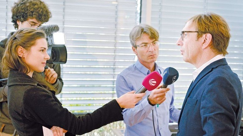 Steht den Medien Rede und Antwort: Wolf Matthias Mang, Vorstandsvorsitzender von Hessenmetall. Foto: Scheffler