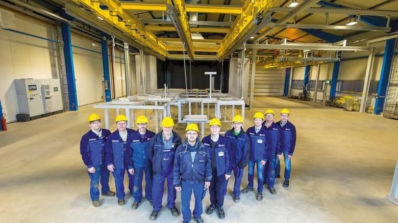 Partner der Meyer Werft: Der Zulieferer ND Coatings weihte eine neue Pulverbeschichtungsanlage ein. Foto: Meyer Werft/Wessels