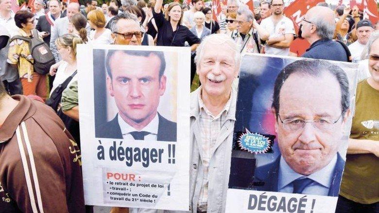 Zoff in Sicht: Schon im Juni gab's in Paris Demonstrationen gegen Emmanuel Macrons Reformen. Foto: Getty