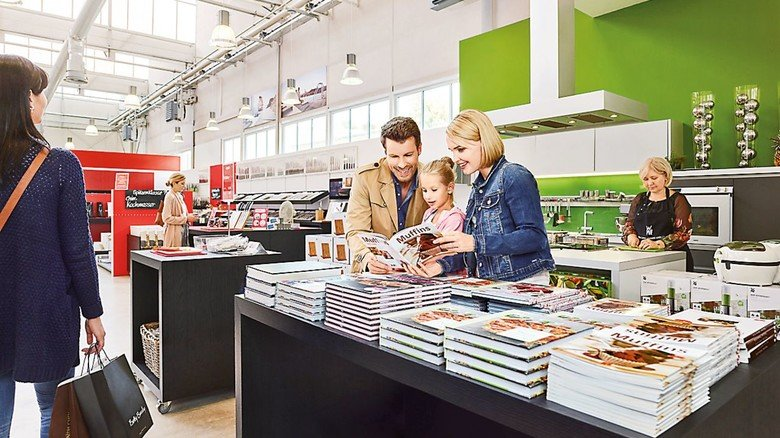Alles fürs Kochen und Backen: Der Fabrikverkauf von WMF in Geislingen.