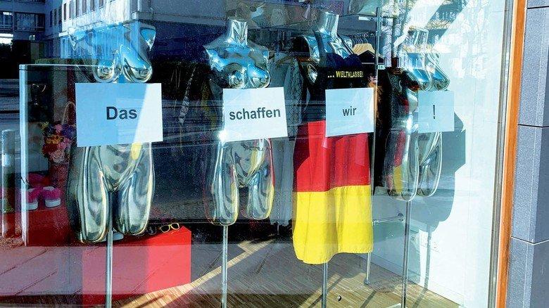 Geschlossenes Geschäft in Berlin: Für viele Läden geht es jetzt um die Existenz.