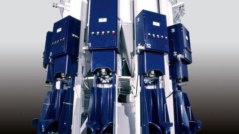 Absacker: Diese Maschine dient dem Befüllen von Zementsäcken. Foto: Werk