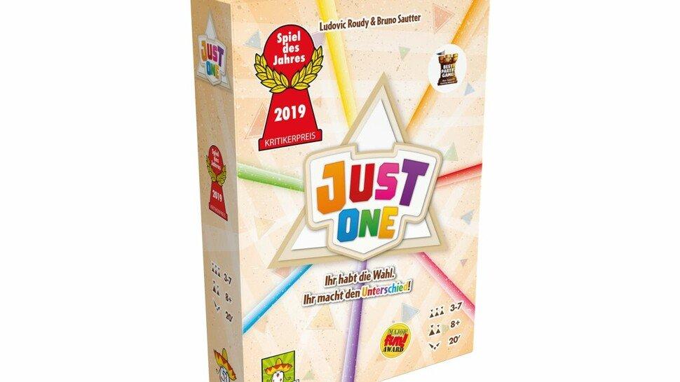 """Das Spiel des Jahres 2019: Bei """"Just One"""" (drei bis sieben Personen ab acht Jahren) geht es darum, einen Begriff zu erraten, der auf einem von insgesamt 110Kärtchen steht."""