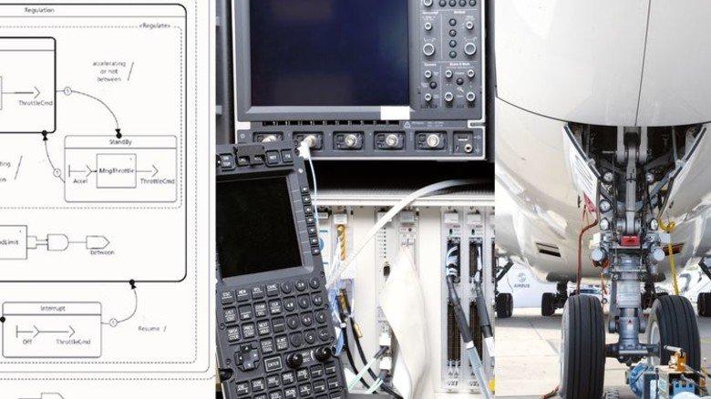 Hightech: Mit solchen Geräten wird die Technik von Flugzeugen geprüft. Foto: Werk
