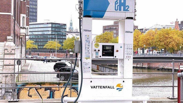 Tankstelle: Eine Wasserstoffstation in der Hamburger Innenstadt.
