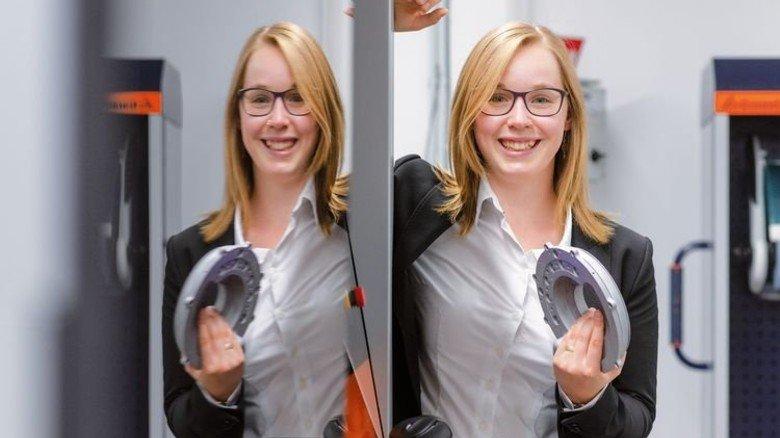 Theresa Stangl, Geschäftsfüherin und Gründerin von Trovus Tech in Roding. Foto: Weigel