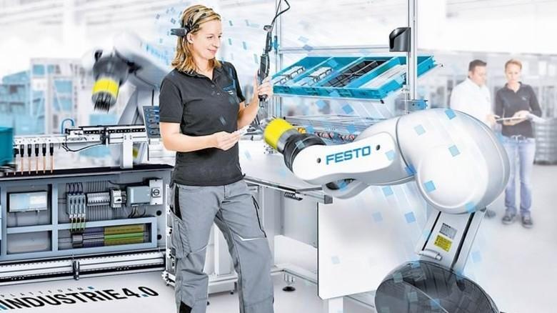 Hightech: Flexible Produktion in der Technologiefabrik von Festo in Esslingen. Foto: Werk