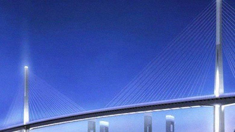 Neu: So soll die Brücke aussehen. Foto: WTM Engineers