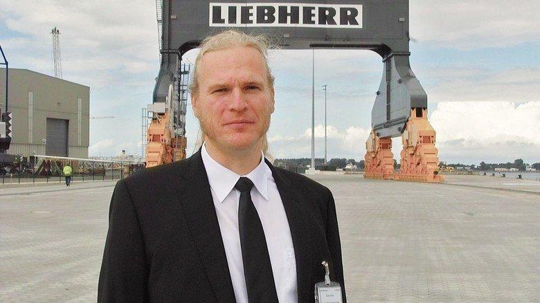 Kran-Entwickler: Keno Dirks, Leiter des Projekts TCC 78000.