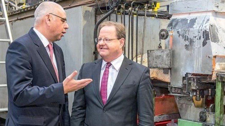 Vermittler: Andreas Becker (links) suchte für Firmenchef Karlheinz Munz die richtigen Berater. Foto: Roth