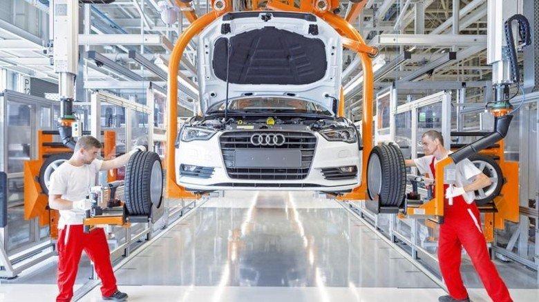 Transparenz: Autohersteller Audi verfolgt den Produktionsprozess mit der RFID-Technologie von Kathrein. Foto: Werk