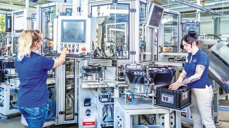 Gerüstet für den Wettbewerb: Allein hätte es die emz-Produktion in Nabburg schwer gegen die Konkurrenz. Foto: Werk