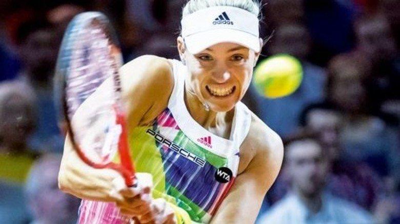 Filzball: Auch auf Spiele von Tennis-Star Angelique Kerber kann man wetten. Foto: Imago
