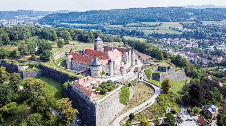 Historische Burg: In der Festung Rosenberg bei Kronach in Oberfranken wurde saniert.
