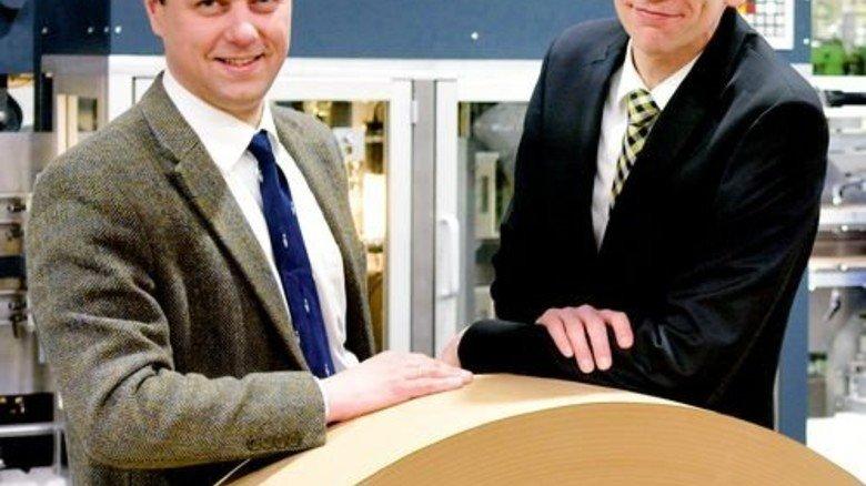 Hier wird investiert: Wilhelm Dyckerhoff und Ralf Busenius (von links). Foto: Scheffler