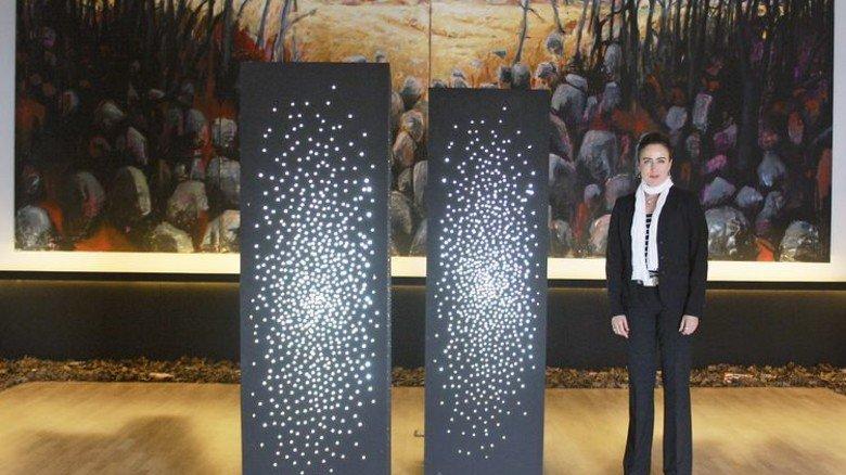 Projekt in Riga: Die Künstlerin im lettischen Holocaust-Museum. Foto: Privat