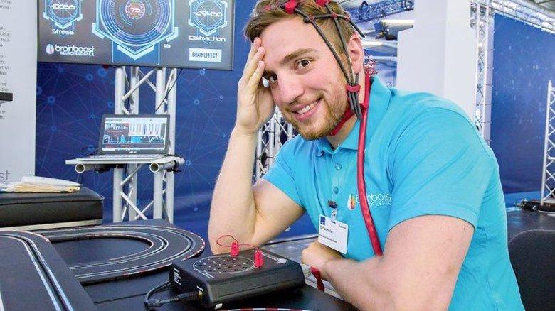 Digitale Techniken beim Start-up Brainboost: Per Neurofeedback lernen Patienten, ihre Gedanken zu sammeln. Das bringt Entspannung in Stresssituationen.  Foto: Schulz