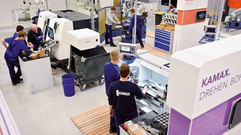 Modern: Blick in das neue Aus- und Weiterbildungszentrum des Schraubenherstellers Kamax in Homberg (Ohm). Foto: Scheffler