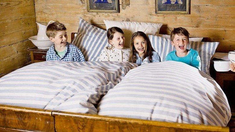 Glentleiten: Schlafen wie bei Urgroßmutter. Foto: Tunger