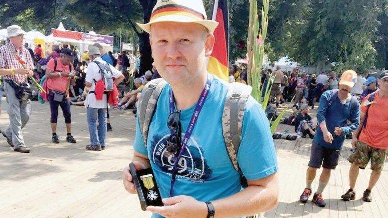 200Kilometer in vier Tagen: Der Schmied hat den Nijmegen-Marsch geschafft. Foto: Privat