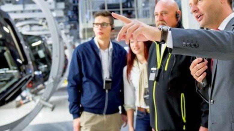 """""""Produktion kompakt"""": Hier können Besucher die """"Geburt"""" eines Autos erleben. Foto: Audi"""