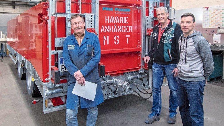 Starkes Team: Musterbau-Leiter Werner Simon, Vertriebsleiter Matthias Scharf und Konstrukteur Yury Kuznetsov (von links).