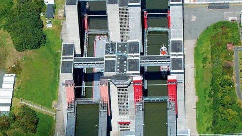 Ausbaufähig: Wartezeiten am Schiffshebewerk in Lüneburg Scharnebeck. Foto: dpa