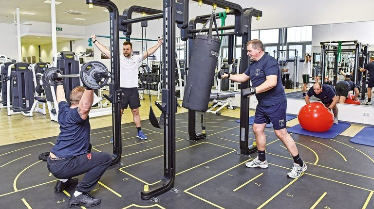 """Gut ausgestattet: Das Gesundheitszentrum """"Werft Vital"""" bietet jede Menge Möglichkeiten für sportliche Aktivitäten."""