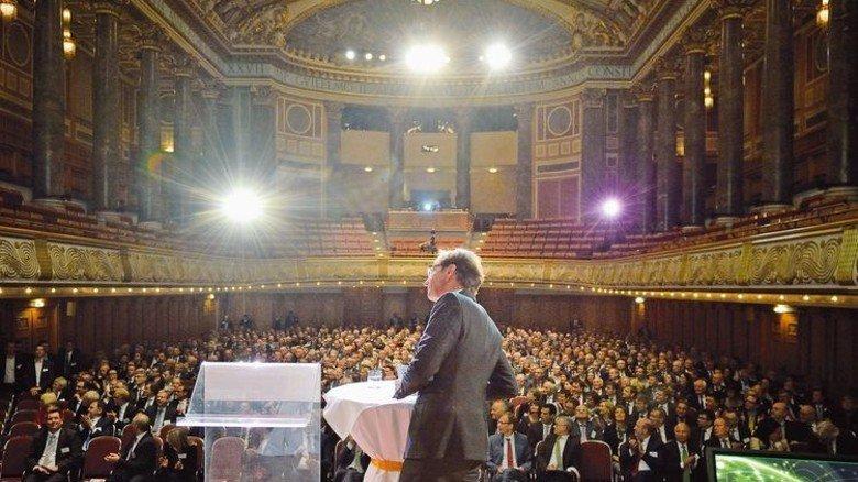 Ereignis: VhU-Präsident Wolf Matthias Mang eröffnet den 26. Hessischen Unternehmertag. Foto: Scheffler