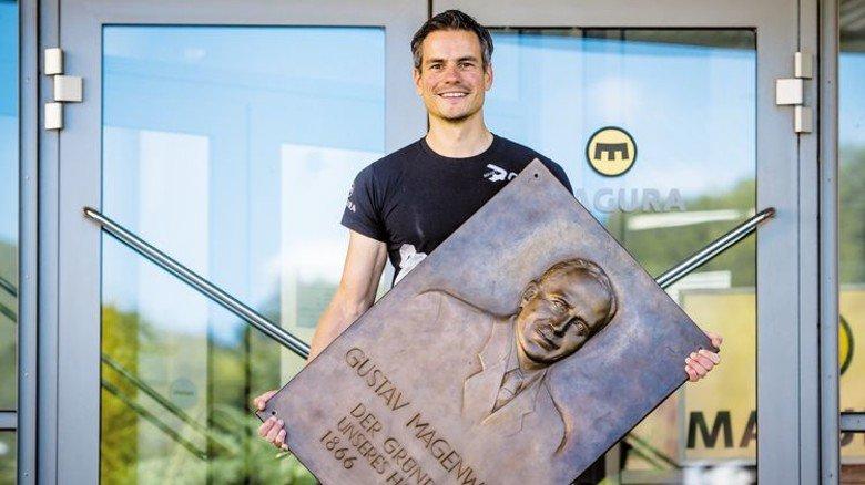 Familienunternehmen: Urenkel Fabian Auch ist stolz auf Firmengründer Gustav Magenwirth. Foto: Werk