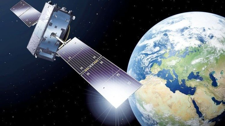 23.000 Kilometer über der Erde: Darstellung eines Galileo-Satelliten. Illustration: ESA