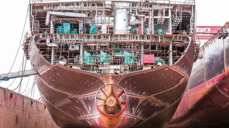 """Schiffbau läuft: Die Zahl der Firmen, die die Lage als """"gut"""" einordnen, stieg auf 13,6 Prozent. Foto: Fotolia; Quelle: Nordmetall"""