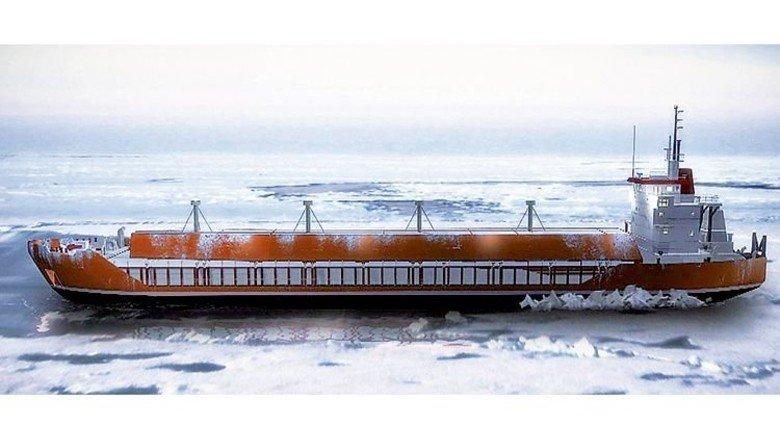 Raue Route: Ein Spezialschiff auf dem Weg von Sibirien nach Europa. Foto: Teekay