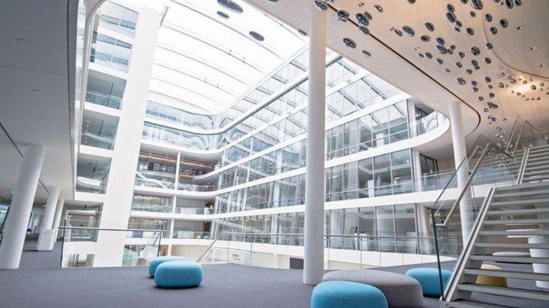 """Neue Zentrale in München: Hier ist das Konzept """"Siemens Office"""" perfekt umgesetzt. Foto: Werk"""