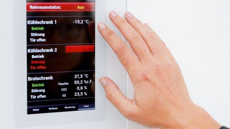 Einfache Bedienung: Das Klima wird übers Display gesteuert. Foto: Karmann