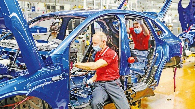 Produktion bei Porsche in Leipzig: Am besten geschützt wären die Beschäftigten, wenn nur Geimpfte und Genesene in der Schicht wären.