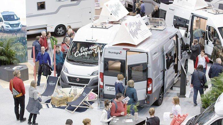Besuchermagnet: Reisemobile bei der Messe CMT. Foto: Messe Stuttgart