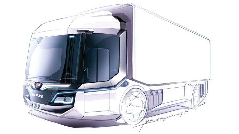 Sicher: Das Konzeptfahrzeug CitE von MAN Truck & Bus hat dank 360-Grad-Kamera alle Verkehrsteilnehmer im Blick.