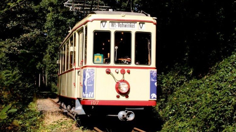 Straßenbahn: Sie fährt auf der Strecke der Bergischen Museumsbahnen. Foto: Esser
