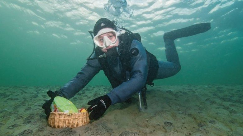 Tauchgang: Eiersuche in der Ostsee. Foto: Tauchbasis Baltic
