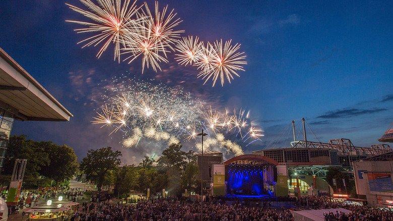 Partystimmung in Hannover: Konzerte und das große Feuerwerk rundeten die IdeenExpo ab.