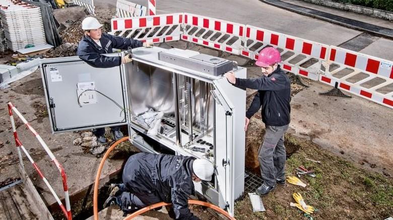 Netzausbau in NRW: 77 Prozent der Haushalte haben schnelles Internet. Foto: Deutsche Telekom AG