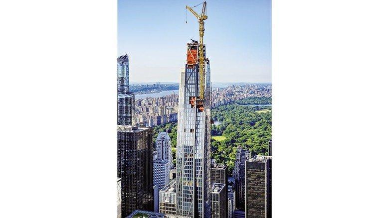 Coole Aussicht: Liebherr-Krane sind weltweit auf Großbaustellen zu Hause. Zum Beispiel auch in New York, für einen Neubau des Museum of Modern Art.
