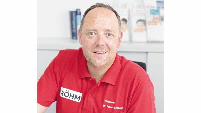 Tobias Limbach, Leiter des Gesundheitsmanagements von Röhm in Worms.
