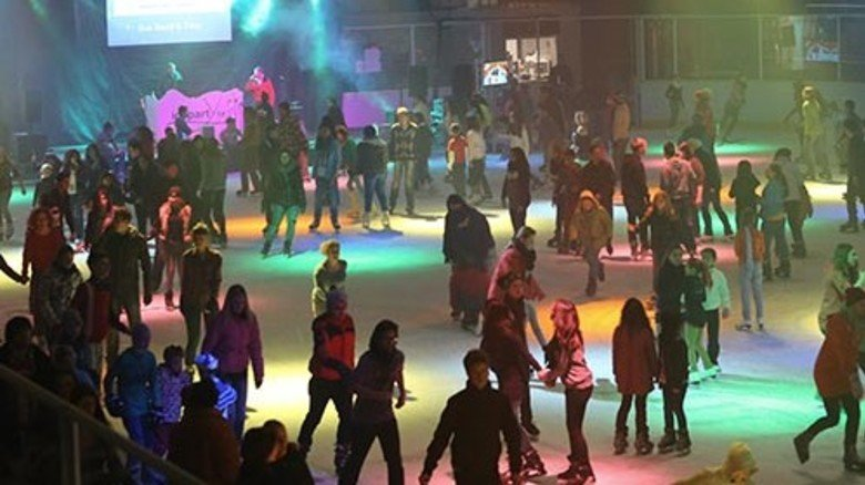 Cool: Disco in der Eiswelt Stuttgart. Foto: Veranstalter