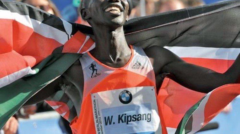 Mit Conti-Zutat: Der  Kenianer Wilson Kipsang lief 2013 beim Berlin-Marathon Weltrekord. Foto: dpa